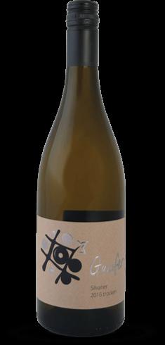 Weinflasche Weißwein Silvaner